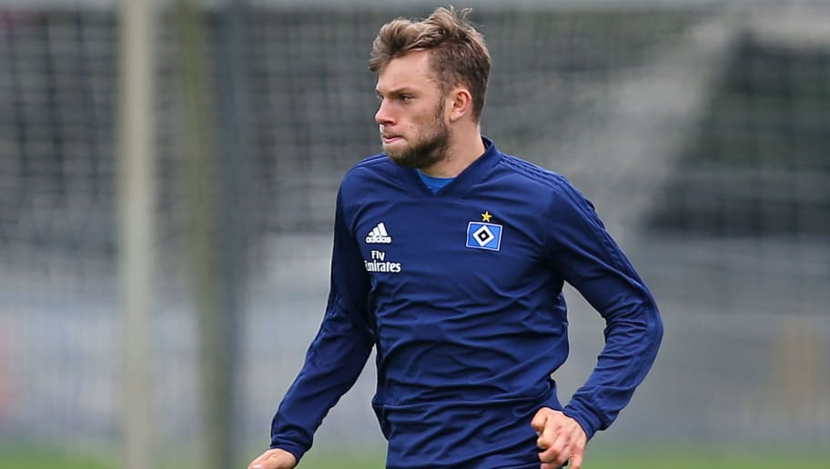 HAMBURG, GERMANY - JUNE 23: Manuel Wintzheimer in action during the first training session of the new season at Volksparkstadion on June 23, 2018 in Hamburg, Germany. Hamburger SV were relegated to the Second Bundesliga at the end of the last season for the first time in the club's history. (Photo by Cathrin Mueller/Bongarts/Getty Images)