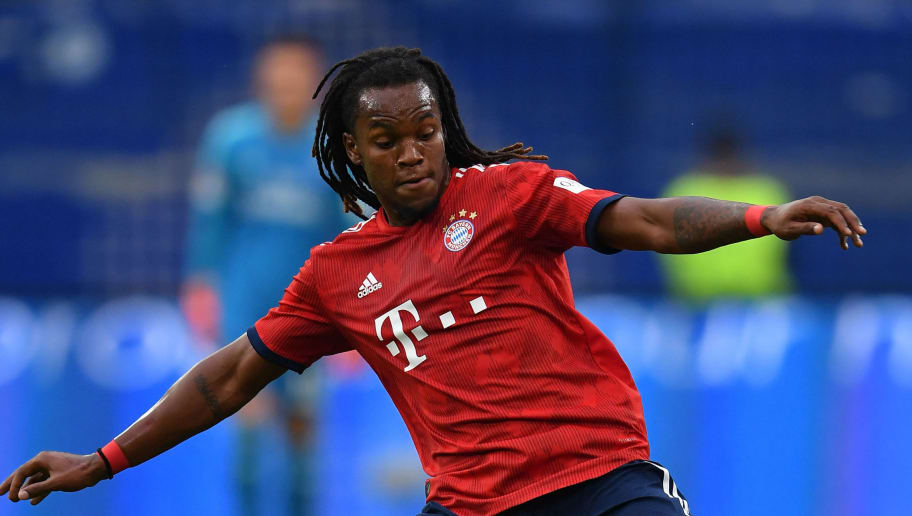 HAMBURG, GERMANY - AUGUST 15:  Renato Sanches of Muenchen in action during the friendly match between Hamburger SV and Bayern Muenchen at Volksparkstadion on August 15, 2018 in Hamburg, Germany.  (Photo by Stuart Franklin/Bongarts/Getty Images)