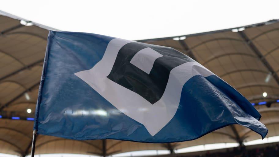 Fahne Flagge mit Stadion von Hamburg,HSV