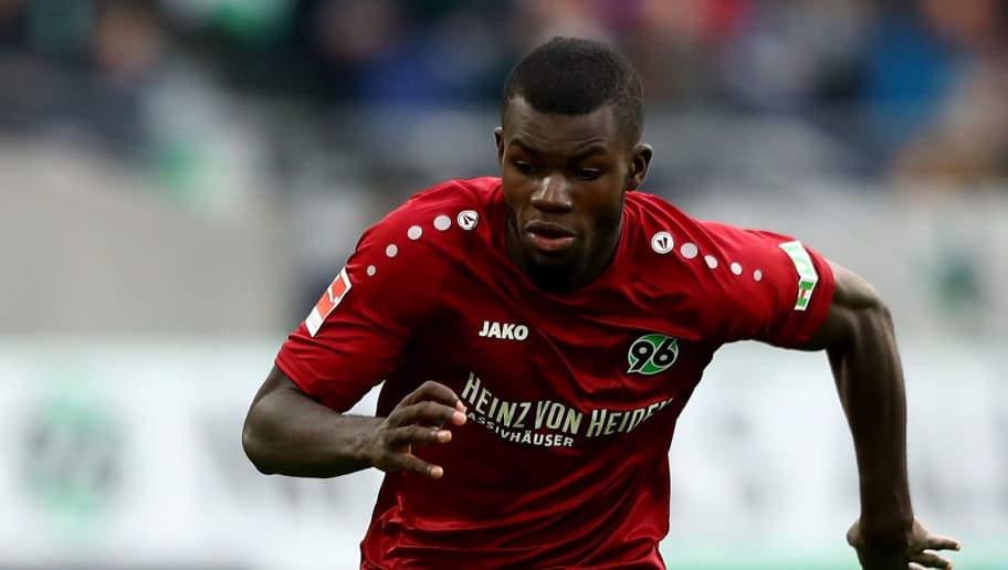 HANOVER, GERMANY - OCTOBER 27:  Ihlas Bebou of Hannover runs with the ball during the Bundesliga match between Hannover 96 and FC Augsburg at HDI-Arena on October 27, 2018 in Hanover, Germany.  (Photo by Martin Rose/Bongarts/Getty Images)