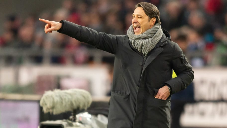 HANOVER, GERMANY - DECEMBER 15: Head coach Niko Kovac of Bayern Muenchen gestures during the Bundesliga match between Hannover 96 and FC Bayern Muenchen at HDI-Arena on December 15, 2018 in Hanover, Germany. (Photo by TF-Images/TF-Images via Getty Images)