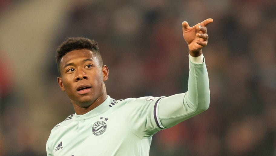 HANOVER, GERMANY - DECEMBER 15: David Alaba of Bayern Muenchen gestures during the Bundesliga match between Hannover 96 and FC Bayern Muenchen at HDI-Arena on December 15, 2018 in Hanover, Germany. (Photo by TF-Images/TF-Images via Getty Images)