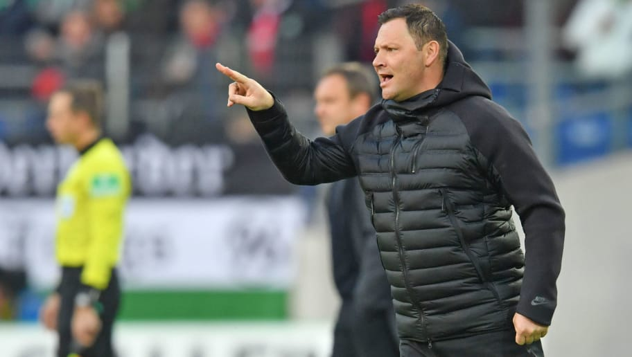 HANOVER, GERMANY - DECEMBER 01: Head coach Pal Dardai of Berlin reacts during the Bundesliga match between Hannover 96 and Hertha BSC at HDI-Arena on December 1, 2018 in Hanover, Germany. (Photo by Thomas Starke/Bongarts/Getty Images)