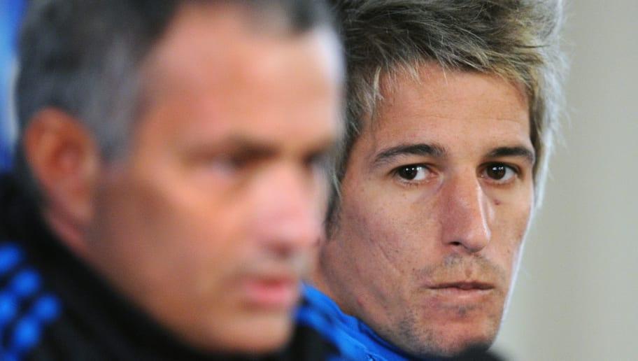 Head Coach Jose Mourinho (L) and Fabio C