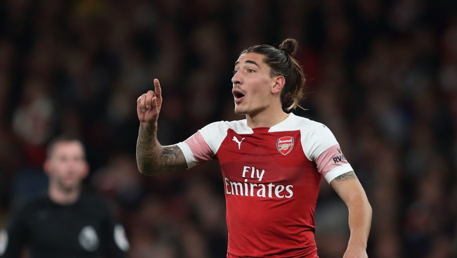 LONDON, ENGLAND - OCTOBER 22: Hector Bellerin of Arsenal during the Premier League match between Arsenal FC and Leicester City at Emirates Stadium on October 22, 2018 in London, United Kingdom. (Photo by James Williamson - AMA/Getty Images)