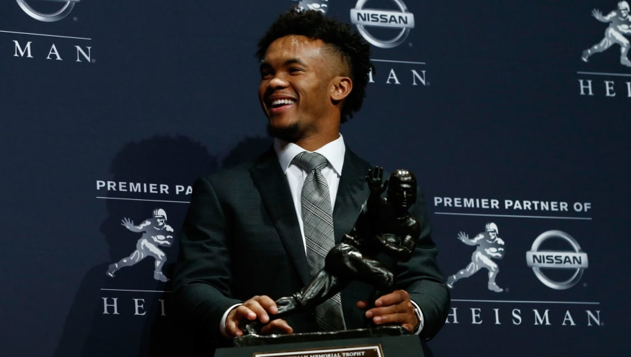 NEW YORK, NY - DECEMBER 08:  Kyler Murray of Oklahoma poses for a photo after winning the 2018 Heisman Trophy on December 8, 2018 in New York City.  (Photo by Mike Stobe/Getty Images)