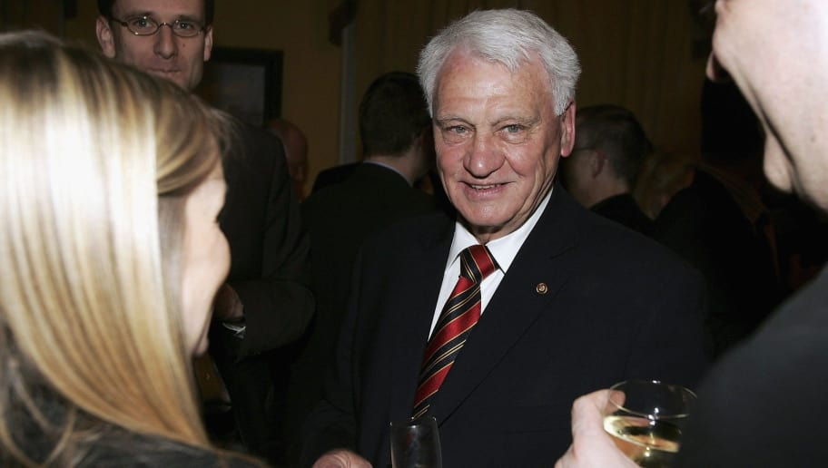 LONDON - MARCH 21:  Former England manager Bobby Robson attends the Heroes '66 Reception as part of a series of events hosted by the German Embassy commemorating 40 years since England won the Jules Rimet trophy, at The German Ambassador's residence, Belgrave Square on March 21, 2006 in London, England.   (Photo by Bruno Vincent/Getty Images)