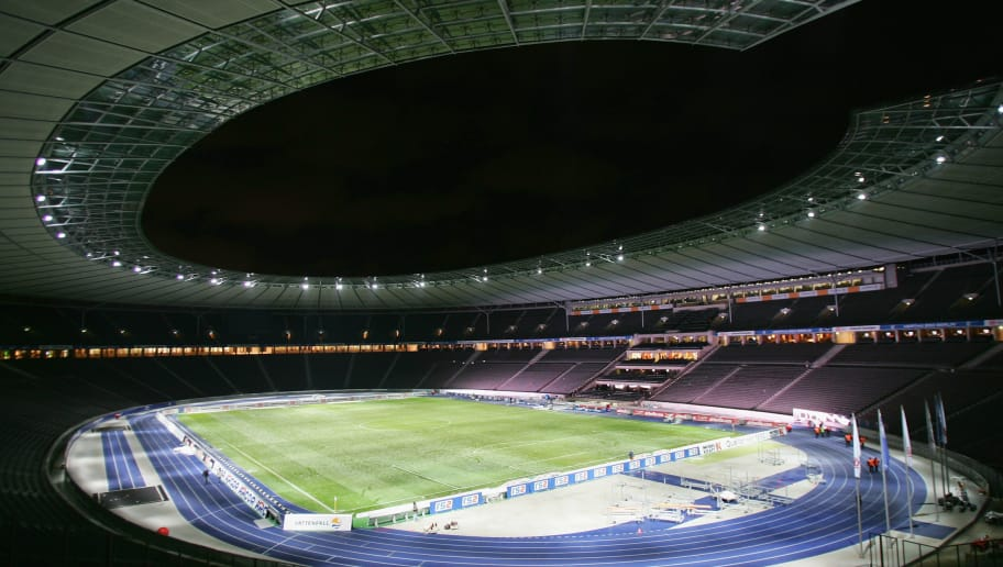 BERLIN - NOVEMBER 10:  General view of the stadium taken during the Bundesliga match between Hertha BSC Berlin and Hannover 96 at the Olympic stadium on November 10, 2007 in Berlin, Germany.  (Photo by Andreas Rentz/Getty Images)