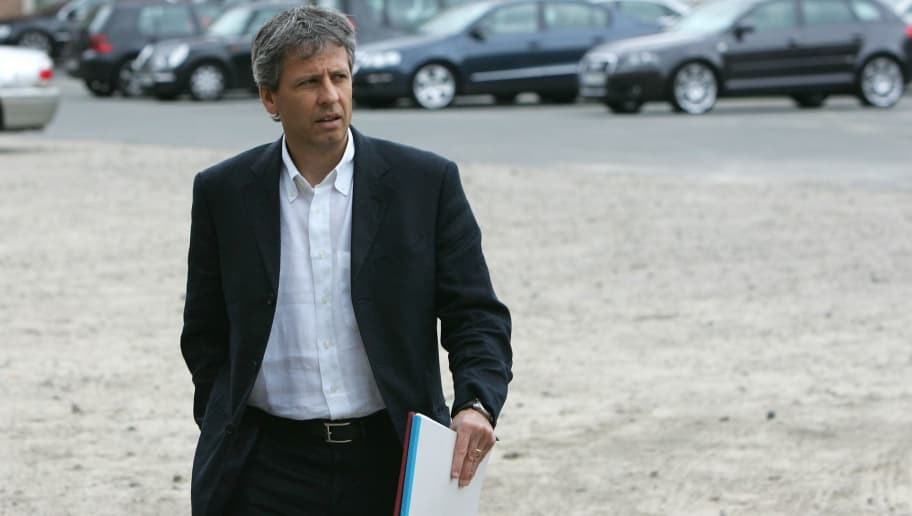 BERLIN - JUNE 02:  Lucien Favre of Switzerland, new head coach of Hertha BSC Berlin, arrives for a press conference on June 2, 2007 in Berlin, Germany. Favre, former coach of FC Zurich, replaced Karsten Heine.  (Photo by Andreas Rentz/Bongarts/Getty Images)