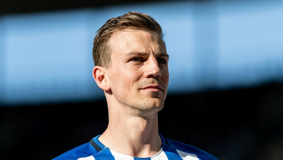 BERLIN, GERMANY - APRIL 28: Vladimir Darida of Hertha BSC looks on after the Bundesliga match between Hertha BSC and FC Augsburg at Olympiastadion on April 28, 2018 in Berlin, Germany. (Photo by Boris Streubel/Bongarts/Getty Images)