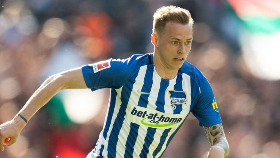 BERLIN, GERMANY - APRIL 28: Ondrej Duda of Hertha BSC runs with the ball during the Bundesliga match between Hertha BSC and FC Augsburg at Olympiastadion on April 28, 2018 in Berlin, Germany. (Photo by Boris Streubel/Bongarts/Getty Images)