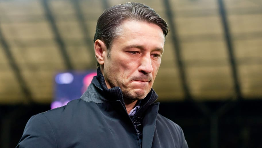 BERLIN, GERMANY - SEPTEMBER 28: Head coach Niko Kovac of Bayern Muenchen looks dejected prior the Bundesliga match between Hertha BSC and FC Bayern Muenchen at Olympiastadion on September 28, 2018 in Berlin, Germany. (Photo by TF-Images/Getty Images)