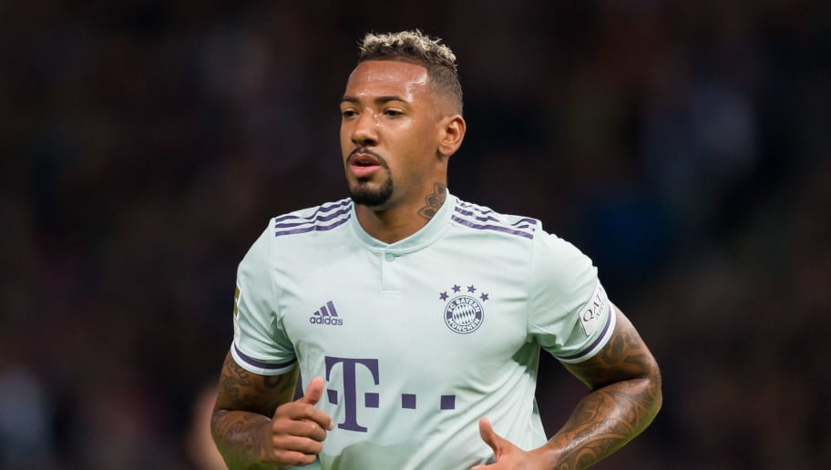 BERLIN, GERMANY - SEPTEMBER 28: Jerome Boateng of Bayern Muenchen looks on during the Bundesliga match between Hertha BSC and FC Bayern Muenchen at Olympiastadion on September 28, 2018 in Berlin, Germany. (Photo by TF-Images/Getty Images)
