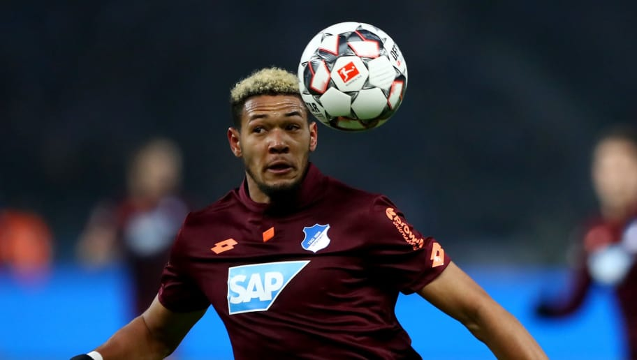 BERLIN, GERMANY - NOVEMBER 24: Joelinton of Hoffenheim runs with the ball during the Bundesliga match between Hertha BSC and TSG 1899 Hoffenheim at Olympiastadion on November 24, 2018 in Berlin, Germany. (Photo by Martin Rose/Bongarts/Getty Images)
