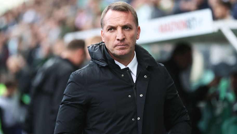 EDINBURGH, SCOTLAND - APRIL 21: Celtic manager Brendan Rodgers is seen during the Ladbrokes Scottish Premiership match between Hibernian and Celtic at Easter Road on April 21, 2018 in Edinburgh, Scotland. (Photo by Ian MacNicol/Getty Images)