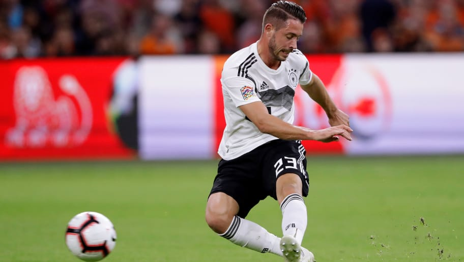 AMSTERDAM, NETHERLANDS - OCTOBER 13: Mark Uth of Germany  during the  UEFA Nations league match between Holland  v Germany  at the Johan Cruijff Arena on October 13, 2018 in amsterdam Netherlands (Photo by Cees van Hoogdalem/Soccrates /Getty Images)