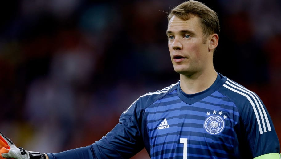 AMSTERDAM, NETHERLANDS - OCTOBER 13: Manuel Neuer of Germany  during the  UEFA Nations league match between Holland  v Germany  at the Johan Cruijff Arena on October 13, 2018 in amsterdam Netherlands (Photo by Peter Lous/Soccrates /Getty Images)