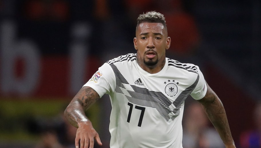 AMSTERDAM, NETHERLANDS - OCTOBER 13: Jerome Boateng of Germany during the  UEFA Nations league match between Holland  v Germany  at the Johan Cruijff Arena on October 13, 2018 in amsterdam Netherlands (Photo by Laurens Lindhout/Soccrates /Getty Images)