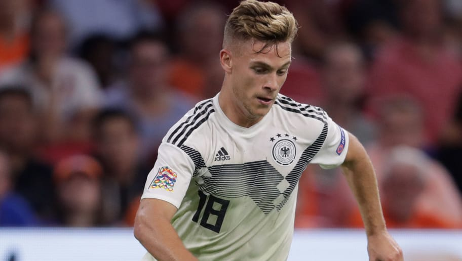 AMSTERDAM, NETHERLANDS - OCTOBER 13: Joshua Kimmich of Germany during the  UEFA Nations league match between Holland  v Germany  at the Johan Cruijff Arena on October 13, 2018 in amsterdam Netherlands (Photo by Laurens Lindhout/Soccrates /Getty Images)