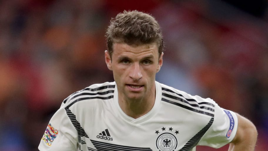 AMSTERDAM, NETHERLANDS - OCTOBER 13: Thomas Muller of Germany during the  UEFA Nations league match between Holland  v Germany  at the Johan Cruijff Arena on October 13, 2018 in amsterdam Netherlands (Photo by Laurens Lindhout/Soccrates /Getty Images)