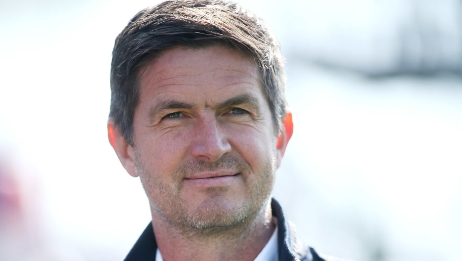 KIEL, GERMANY - MAY 13: Manager Ralf Becker of Holstein Kiel is seen prior to the Second Bundesliga match between Holstein Kiel and Eintracht Braunschweig at Holstein-Stadion on May 13, 2018 in Kiel, Germany. (Photo by Selim Sudheimer/Bongarts/Getty Images)