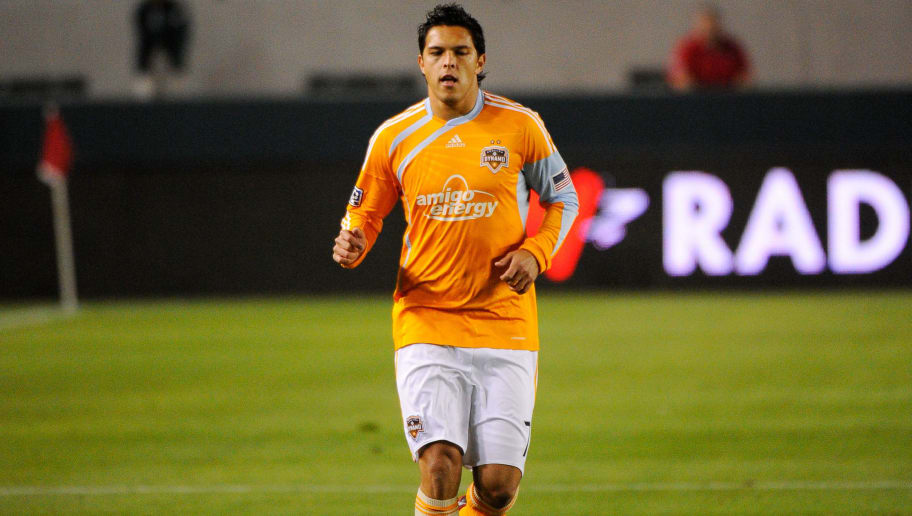 CARSON, CA - MAY 08:  Forward Luis Landin of Houston Dynamo in action against Chivas USA during the MLS soccer match on May 8, 2010 at the Home Depot Center in Carson, California.  (Photo by Kevork Djansezian/Getty Images)