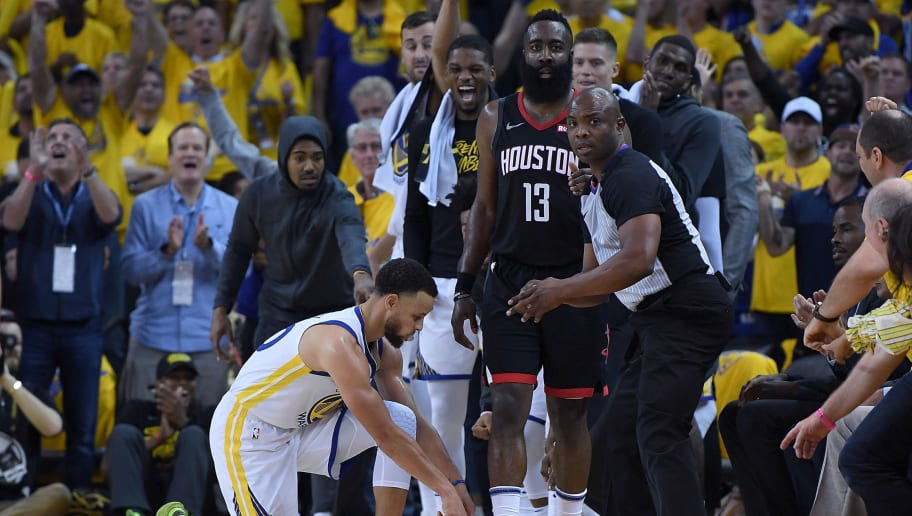 a7f564bba59 Official Who Didn t Give James Harden the Calls He Wanted Was Wearing Kevin  Durant s Sneakers