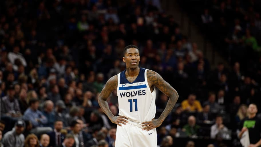 MINNEAPOLIS, MN - FEBRUARY 13: Jamal Crawford #11 of the Minnesota Timberwolves looks on during the game against the Houston Rockets on February 13, 2018 at the Target Center in Minneapolis, Minnesota. NOTE TO USER: User expressly acknowledges and agrees that, by downloading and or using this Photograph, user is consenting to the terms and conditions of the Getty Images License Agreement. (Photo by Hannah Foslien/Getty Images)
