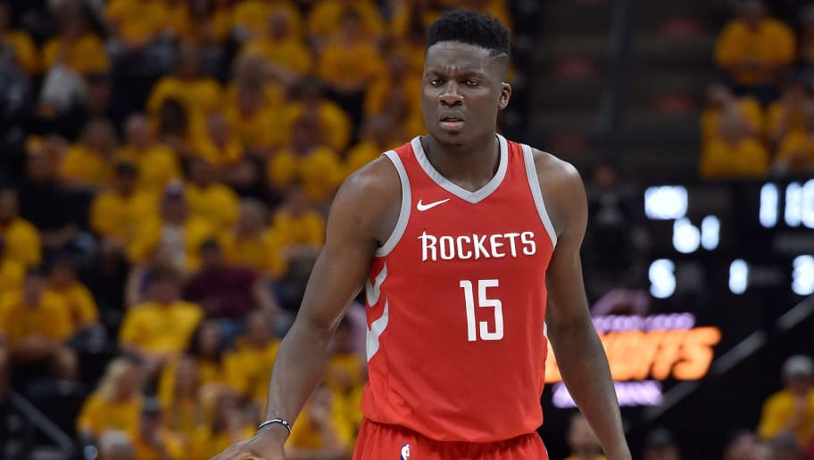 SALT LAKE CITY, UT - MAY 06: Clint Capela #15 of the Houston Rockets controls the ball in the second half during Game Four of Round Two of the 2018 NBA Playoffs against the Utah Jazz at Vivint Smart Home Arena on May 6, 2018 in Salt Lake City, Utah. The Rockets beat the Jazz 100-87. NOTE TO USER: User expressly acknowledges and agrees that, by downloading and or using this photograph, User is consenting to the terms and conditions of the Getty Images License Agreement. (Photo by Gene Sweeney Jr./Getty Images)