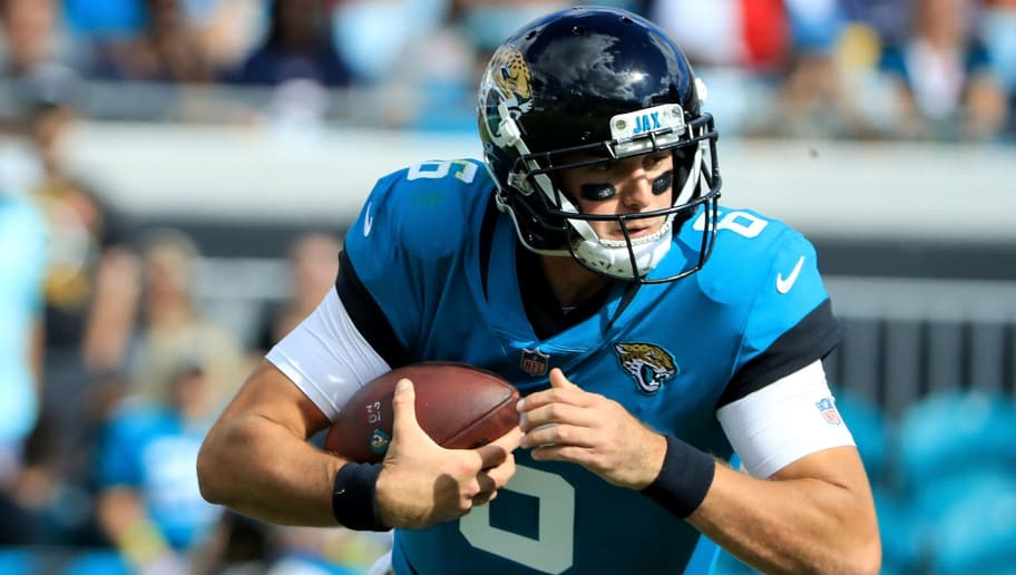JACKSONVILLE, FL - OCTOBER 21:  Cody Kessler #6 of the Jacksonville Jaguars scrambles for yardage during the game against the Houston Texans at TIAA Bank Field on October 21, 2018 in Jacksonville, Florida.  (Photo by Sam Greenwood/Getty Images)