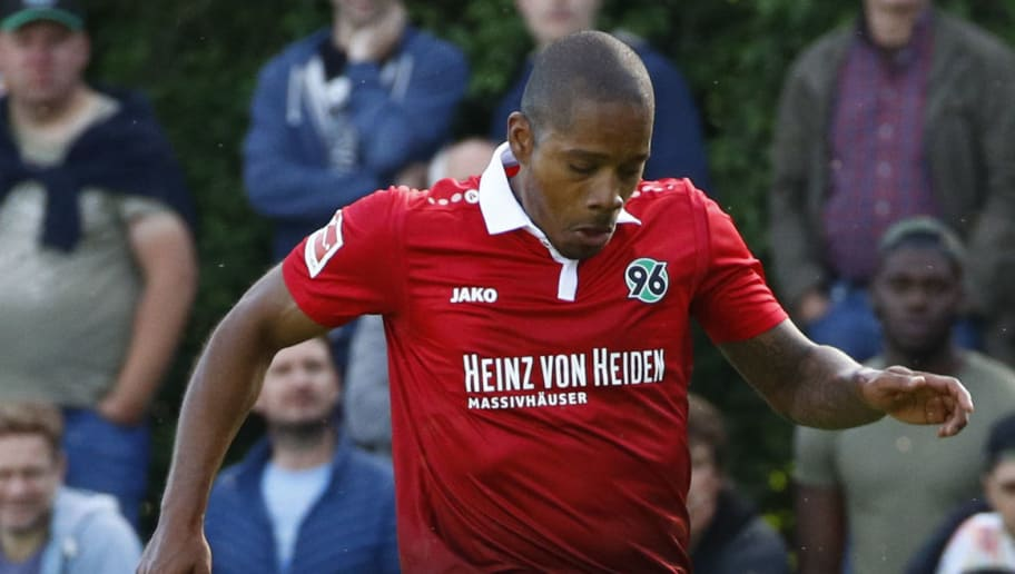 HANOVER, GERMANY - JULY 02: Charlison Benschop of Hannover 96 during the preseason friendly match between HSC Hannover and Hannover 96 at HSC-Stadion on July 2, 2017 in Hanover, Germany. (Photo by Joachim Sielski/Bongarts/Getty Images)