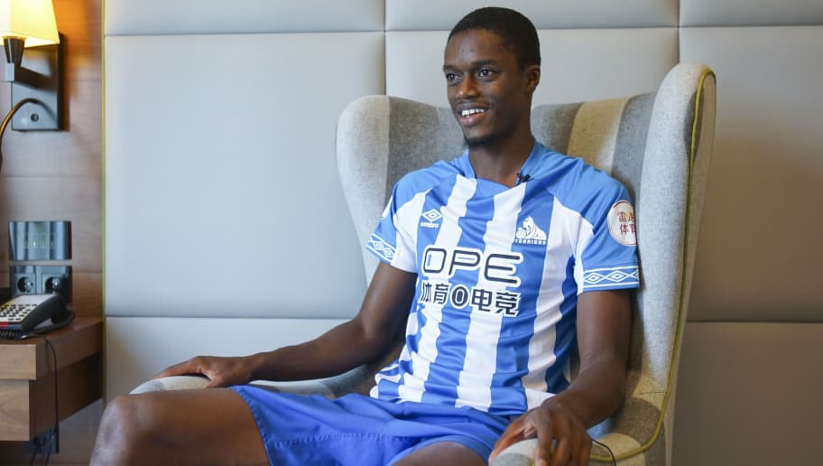 FRANKFURT AM MAIN, GERMANY - JULY 20:  NEW SIGNING Huddersfield Town unveil new signing Adama Diakhaby on July 20 in Frankfurt, Germany. (Photo by John Early/Getty Images)