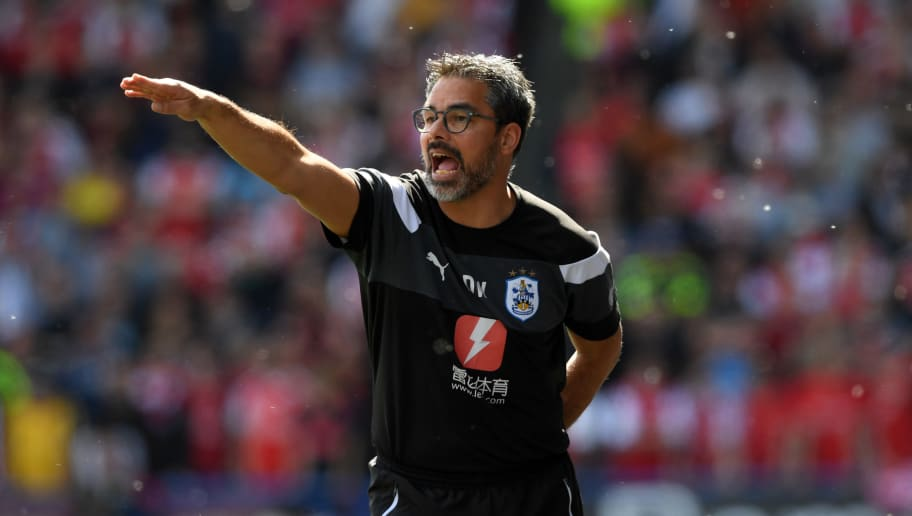 HUDDERSFIELD, ENGLAND - MAY 13:  David Wagner, Manager of Huddersfield Town gives instruction to his team during the Premier League match between Huddersfield Town and Arsenal at John Smith's Stadium on May 13, 2018 in Huddersfield, England.  (Photo by Shaun Botterill/Getty Images)