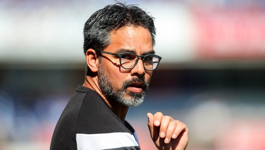 HUDDERSFIELD, ENGLAND - MAY 13: David Wagner head coach / manager of Huddersfield Town during the Premier League match between Huddersfield Town and Arsenal at John Smith's Stadium on May 13, 2018 in Huddersfield, England. (Photo by Robbie Jay Barratt - AMA/Getty Images)