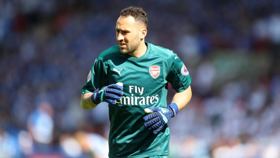 HUDDERSFIELD, ENGLAND - MAY 13: David Ospina of Arsenal during the Premier League match between Huddersfield Town and Arsenal at John Smith's Stadium on May 13, 2018 in Huddersfield, England. (Photo by Catherine Ivill/Getty Images)