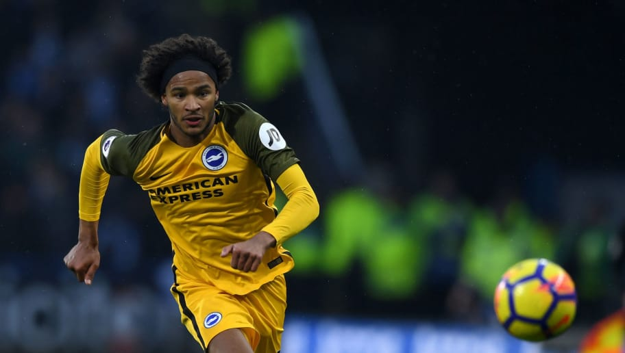 HUDDERSFIELD, ENGLAND - DECEMBER 09:  Izzy Brown of Brighton during the Premier League match between Huddersfield Town and Brighton and Hove Albion at John Smith's Stadium on December 9, 2017 in Huddersfield, England.  (Photo by Gareth Copley/Getty Images)