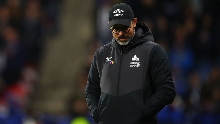HUDDERSFIELD, ENGLAND - DECEMBER 01: A dejected David Wagner head coach / manager of Huddersfield Town during the Premier League match between Huddersfield Town and Brighton & Hove Albion at John Smith's Stadium on December 1, 2018 in Huddersfield, United Kingdom. (Photo by Robbie Jay Barratt - AMA/Getty Images)