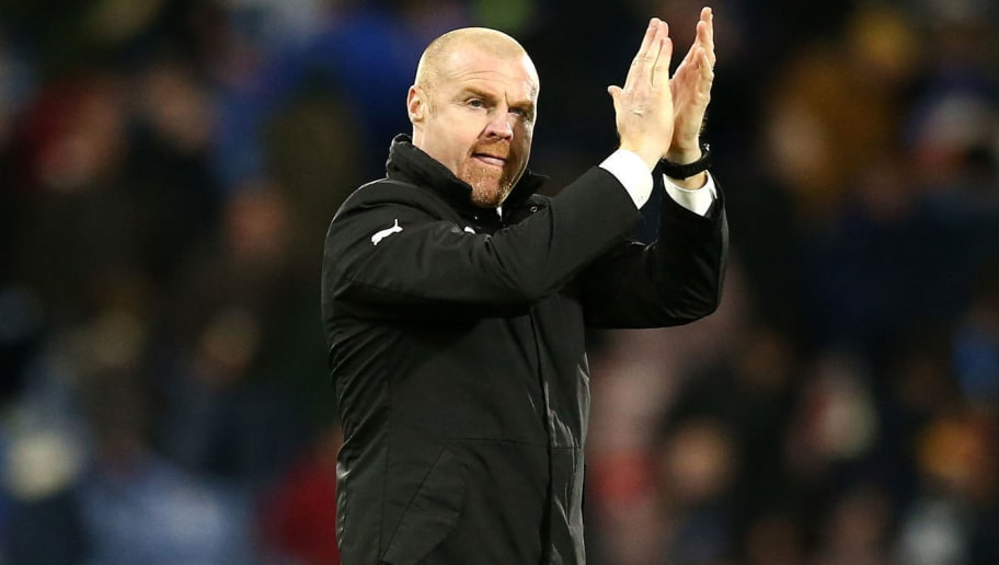 HUDDERSFIELD, ENGLAND - JANUARY 02:  Sean Dyche, Manager of Burnley applauds fans during the Premier League match between Huddersfield Town and Burnley FC at John Smith's Stadium on January 2, 2019 in Huddersfield, United Kingdom.  (Photo by Jan Kruger/Getty Images)