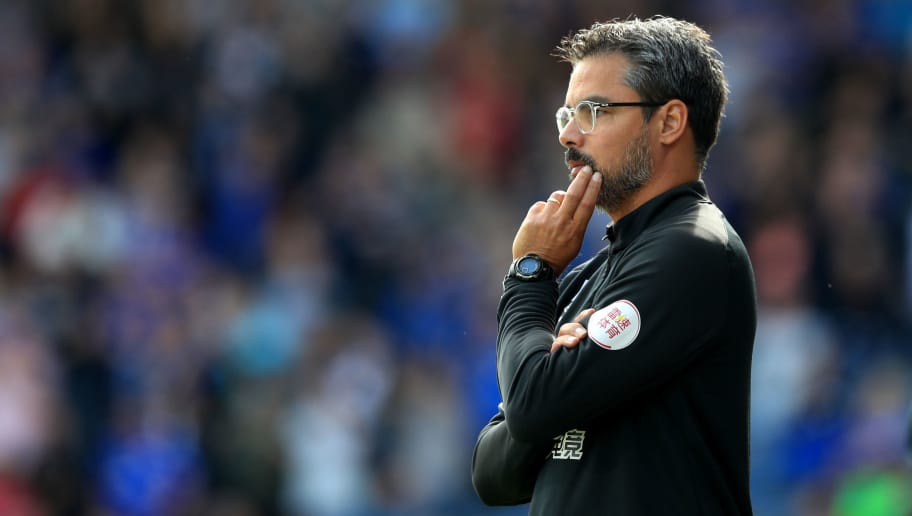 HUDDERSFIELD, ENGLAND - AUGUST 25:  David Wagner, manager of Huddersfield Town looks on during the Premier League match between Huddersfield Town and Cardiff City at John Smith's Stadium on August 25, 2018 in Huddersfield, United Kingdom.  (Photo by Matthew Lewis/Getty Images)