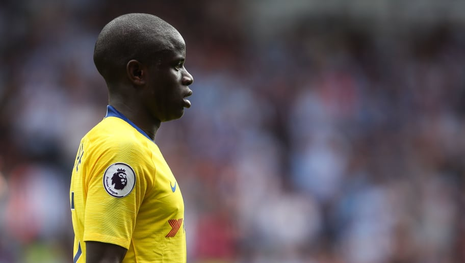 HUDDERSFIELD, ENGLAND - AUGUST 11: Ngolo Kante of Chelsea during the Premier League match between Huddersfield Town and Chelsea FC at John Smith's Stadium on August 11, 2018 in Huddersfield, United Kingdom. (Photo by Robbie Jay Barratt - AMA/Getty Images)