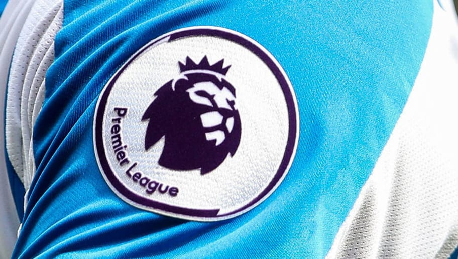 HUDDERSFIELD, ENGLAND - AUGUST 11:  The Premier League logo branding is seen on the sleeve of Philip Billing of Huddersfield Town during the Premier League match between Huddersfield Town and Chelsea FC at John Smith's Stadium on August 11, 2018 in Huddersfield, United Kingdom. (Photo by Robbie Jay Barratt - AMA/Getty Images)