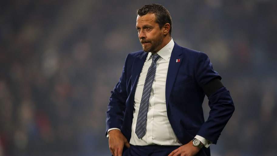 HUDDERSFIELD, ENGLAND - NOVEMBER 05:  Slavisa Jokanovic the head coach / manager of Fulham during the Premier League match between Huddersfield Town and Fulham FC at John Smith's Stadium on November 5, 2018 in Huddersfield, United Kingdom. (Photo by Robbie Jay Barratt - AMA/Getty Images)