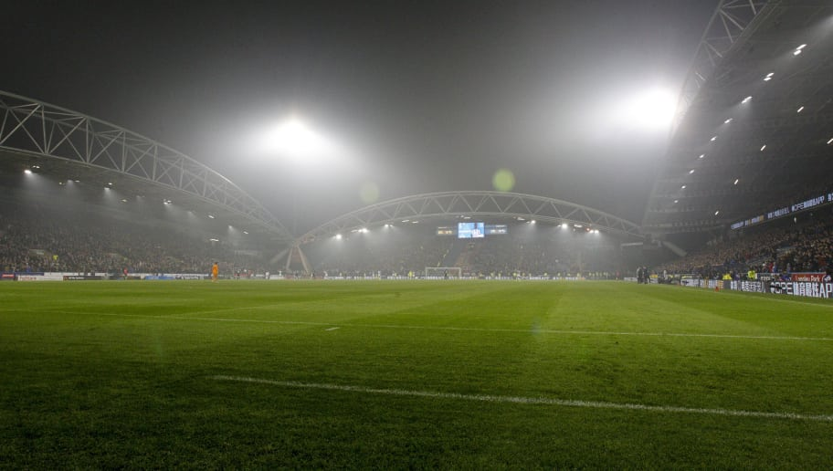 HUDDERSFIELD, ENGLAND - NOVEMBER 05: General view of John Smiths Stadium during the Premier League match between Huddersfield Town and Fulham FC at John Smith's Stadium on November 5, 2018 in Huddersfield, United Kingdom. (Photo by Ben Early/Getty Images)