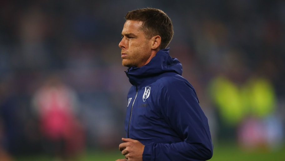 HUDDERSFIELD, ENGLAND - NOVEMBER 05: Scott Parker assistant head coach / manager of Fulham  during the Premier League match between Huddersfield Town and Fulham FC at John Smith's Stadium on November 5, 2018 in Huddersfield, United Kingdom. (Photo by Robbie Jay Barratt - AMA/Getty Images)