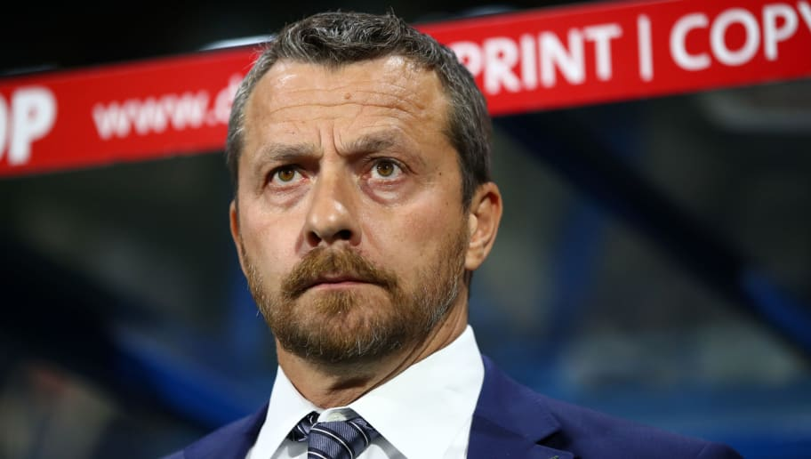 HUDDERSFIELD, ENGLAND - NOVEMBER 05:  Slavisa Jokanovic, Manager of Fulham looks on prior to the Premier League match between Huddersfield Town and Fulham FC at John Smith's Stadium on November 5, 2018 in Huddersfield, United Kingdom.  (Photo by Clive Brunskill/Getty Images)