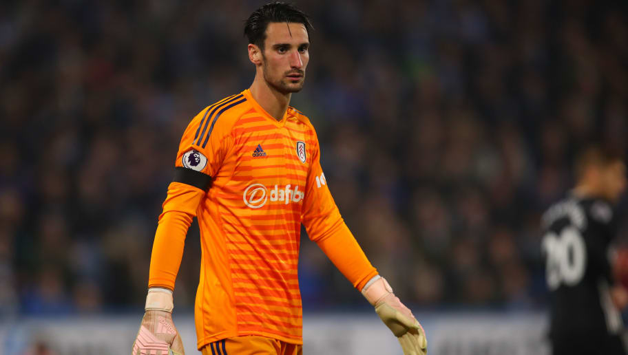 HUDDERSFIELD, ENGLAND - NOVEMBER 05: Sergio Rico of Fulham during the Premier League match between Huddersfield Town and Fulham FC at John Smith's Stadium on November 5, 2018 in Huddersfield, United Kingdom. (Photo by Robbie Jay Barratt - AMA/Getty Images)