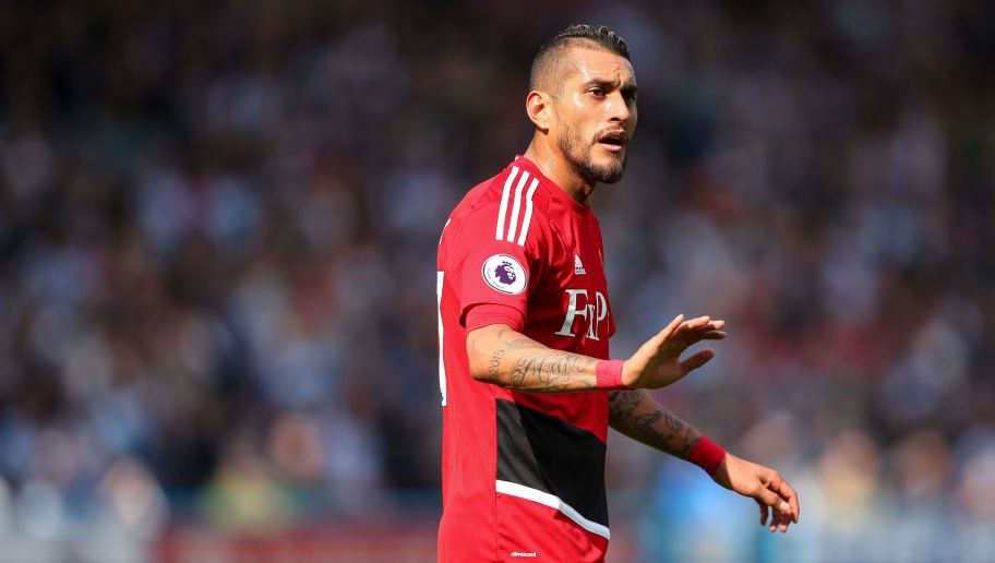 HUDDERSFIELD, ENGLAND - APRIL 14: Roberto Pereyra of Watford during the Premier League match between Huddersfield Town and Watford at John Smith's Stadium on April 14, 2018 in Huddersfield, England. (Photo by Robbie Jay Barratt - AMA/Getty Images)