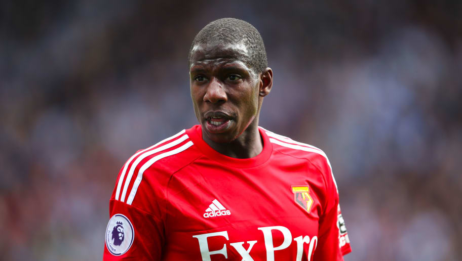 HUDDERSFIELD, ENGLAND - APRIL 14: Abdoulaye Doucoure of Watford during the Premier League match between Huddersfield Town and Watford at John Smith's Stadium on April 14, 2018 in Huddersfield, England. (Photo by Robbie Jay Barratt - AMA/Getty Images)