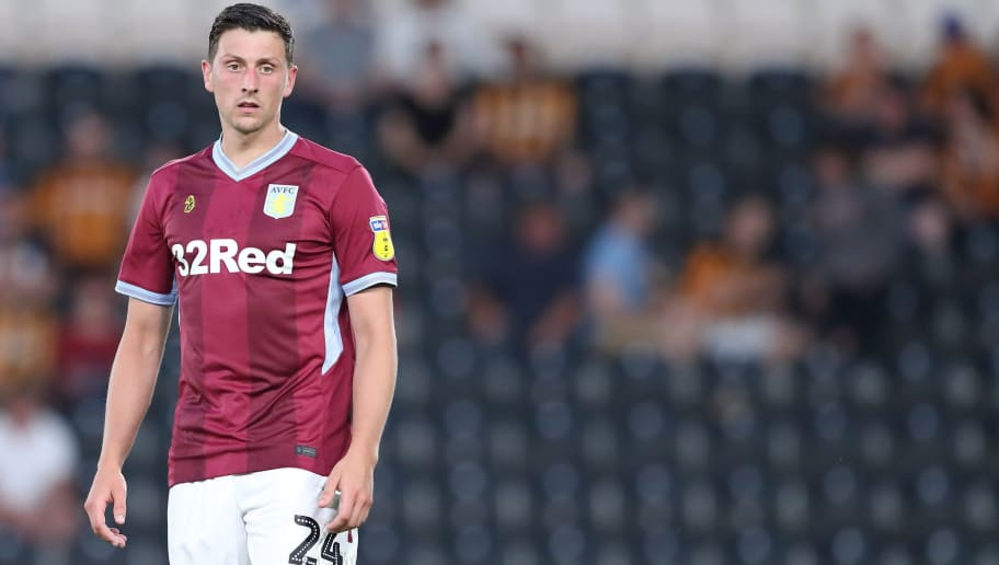 HULL, ENGLAND - AUGUST 06: Tommy Elphick of Aston Villa during the Sky Bet Championship match between Hull City and Aston Villa at KCOM Stadium on August 6, 2018 in Hull, England. (Photo by James Williamson - AMA/Getty Images)