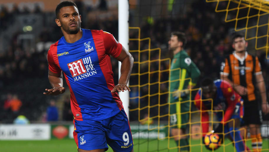 HULL, ENGLAND - DECEMBER 10:  Fraizer Campbell of Crystal Palace celebrates as he scores their third goal during the Premier League match between Hull City and Crystal Palace at KCOM Stadium on December 10, 2016 in Hull, England.  (Photo by Gareth Copley/Getty Images)